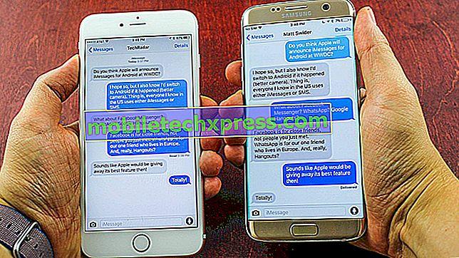 Sådan repareres Galaxy S9 Plus, der ikke modtager gruppemeddelelse fra iPhone-problemet