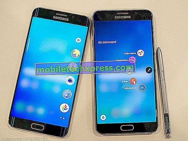 Samsung stuurt beveiligingsupdates naar Galaxy S6 edge + en Galaxy Note 5
