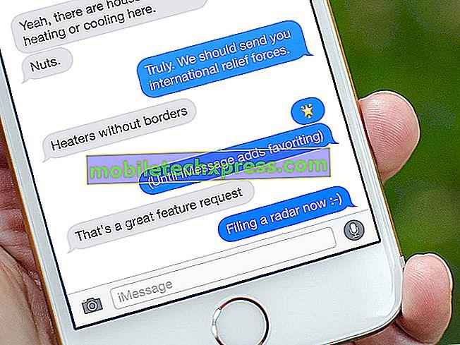 Galaxy Note 4 kan ikke slette samtale fra messaging app, andre tekstproblemer