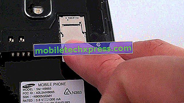 لن يتعرف Galaxy Note 4 على أي بطاقة SIM أو مشكلات أخرى