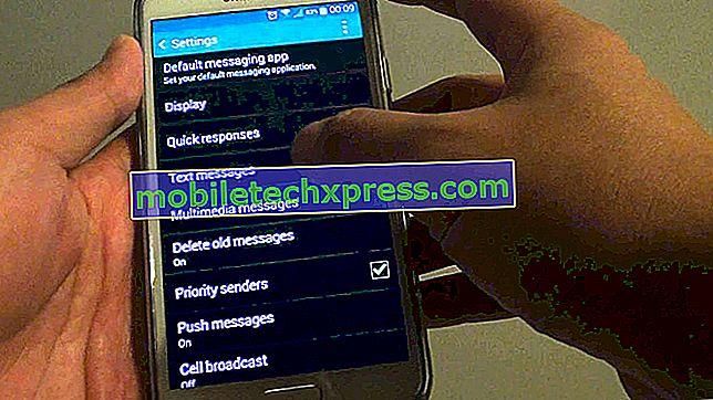 Cómo solucionar el problema de los mensajes de texto del Galaxy J7: no puedo enviar y recibir mensajes de imagen (MMS)