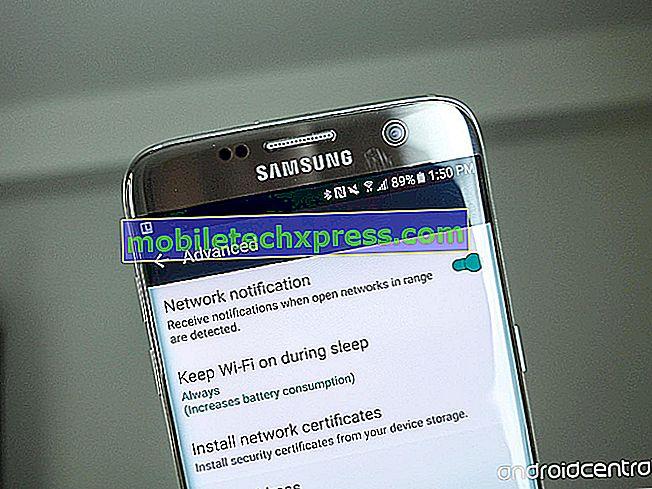 O Galaxy S7 desconecta o Wi-Fi quando a tela está desligada, outros problemas