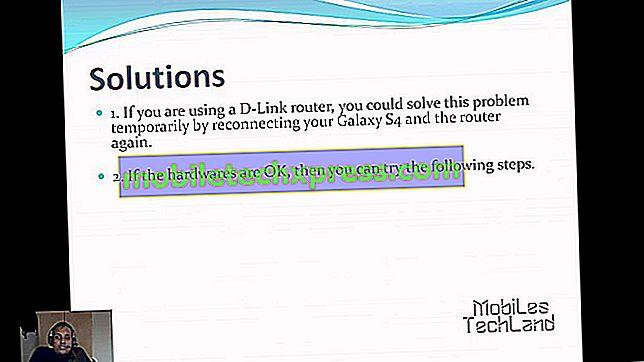 Aguardando problema de rede no Samsung Galaxy S4