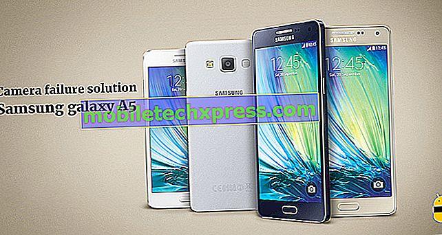 Løst Samsung Galaxy A5 kamera fejlagtig fejl
