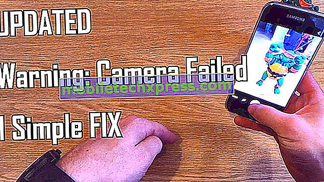 "Kako popraviti Samsung Galaxy S7 rob ""Warning: Camera failed"" error [Troubleshooting Guide]"