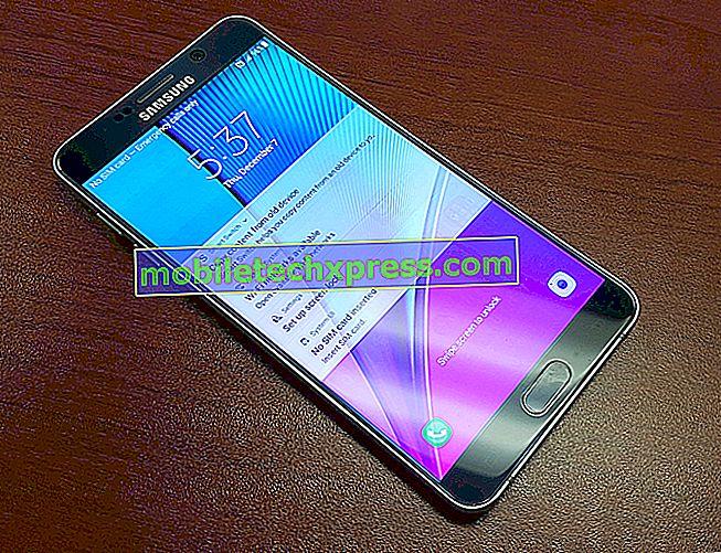 Galaxy Note 5 touchscreen werkte niet tijdens het typen, andere problemen