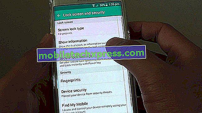 Samsung Galaxy S6 Edge Plus težave z zaklepanjem zaslona