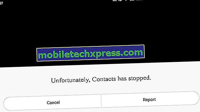 """Jak opravit chybu """"Bohužel se kontakty zastavily"""" na Galaxy S5"""