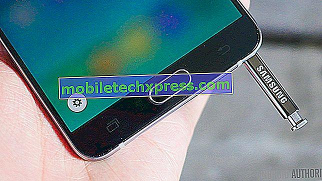 Samsung Galaxy Note 5 restartuje náhodně problém a další související problémy