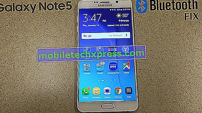 """Comment réparer Samsung Galaxy Note 5 """"Malheureusement, Bluetooth a arrêté"""" erreur et d'autres problèmes Bluetooth"""