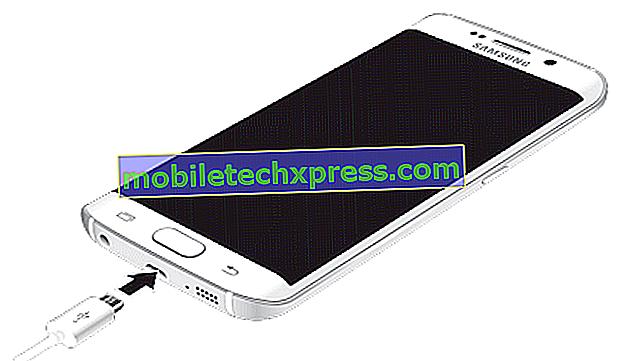 Samsung Galaxy Note 5 Bare stiger når plugget til lader