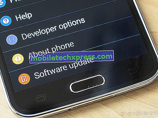 Popravi Verizon Galaxy S5 »Programska oprema, ki ni posodobljena na G900VVRU2BOG5 ni uspela… Koda napake 550«