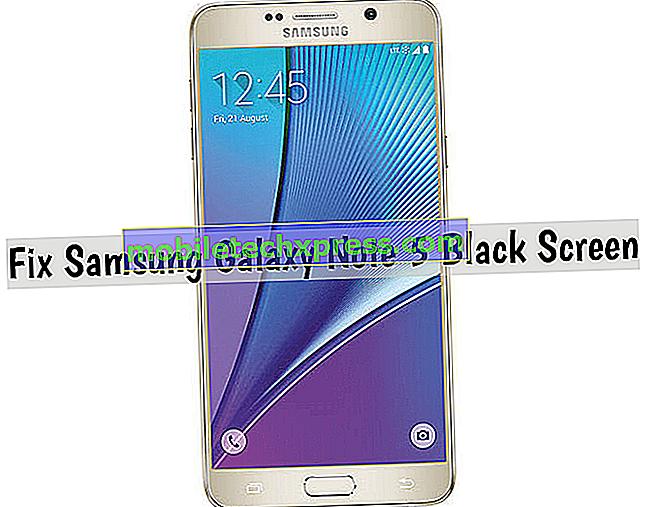 Kako popraviti Samsung Galaxy Opomba 5 s črno in neodziven zaslon, druge težave z zaslonom