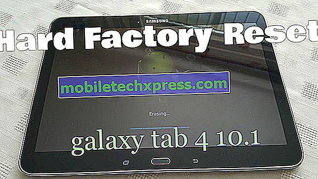 Kako trdo ponastaviti na Samsung Galaxy Tab 4