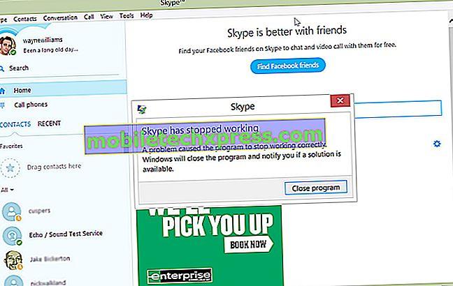iPhone 6 krasjer når du bruker Skype App